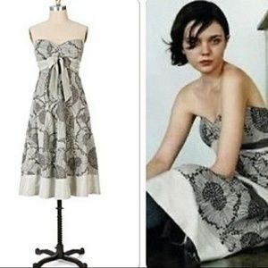 Anthropologie Odille Gypsophila Strapless Dress